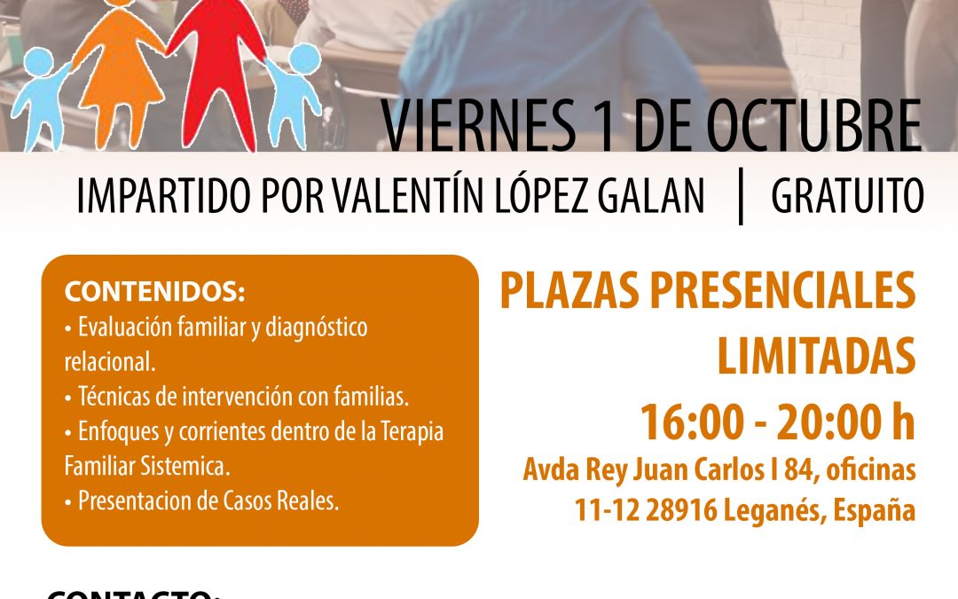 Seminario Terapia Familiar Sistémica – Madrid 1 Oct